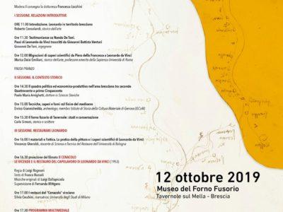 """Locandina """"Leonardo Da Vinci in Val Trompia"""""""